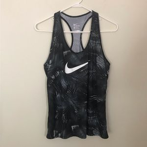 Nike Racerback Tank Top Black White Palms Large